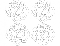 rosa 21 p 29,94×27,39 Free Dxf File for CNC