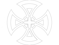 cruz modificada Free Dxf File for CNC