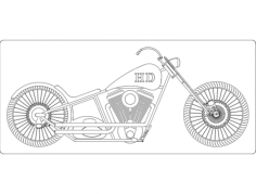 chopper 2 Free Dxf File for CNC