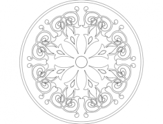 mandala 4 Free Dxf File for CNC