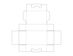 packaging design template Free Dxf File for CNC