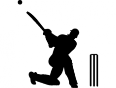 cricket silhouette Free Dxf File for CNC