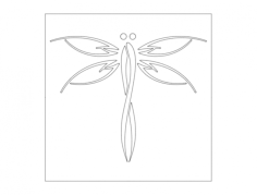 dragonfly Free Dxf File for CNC