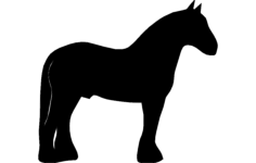 clydesdale Free Dxf File for CNC