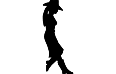 girl standing Free Dxf File for CNC