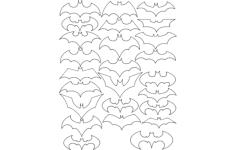 batman logo Free Dxf File for CNC