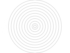 bullseye Free Dxf File for CNC