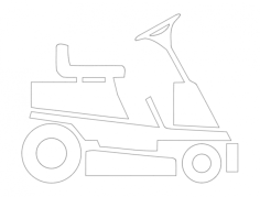 vehicle Free Dxf File for CNC