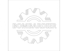 bombardier logo Free Dxf File for CNC