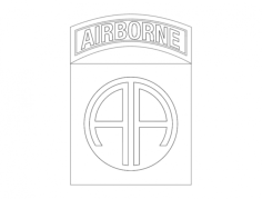 82nd airborne Free Dxf File for CNC