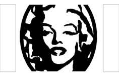 screenshot woman Free Dxf File for CNC