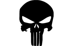 punisher skull Free Dxf File for CNC