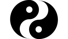 ying yang Free Dxf File for CNC