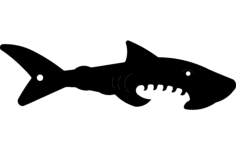 shark silhouette vector Free Dxf File for CNC