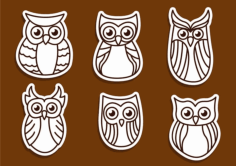 owl outline vectors Free Dxf File for CNC