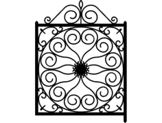 ironwork gate Free Dxf File for CNC