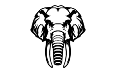 elephant Free Dxf File for CNC