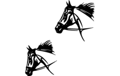 tribal horse Free Dxf File for CNC