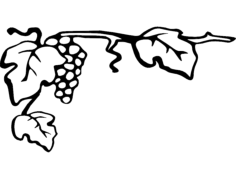grapes 7×4 Free Dxf File for CNC