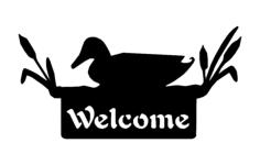 welcome sign duck Free Dxf File for CNC