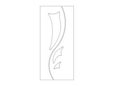 modern door design Free Dxf File for CNC