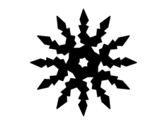 snowflake digital cut Free Dxf File for CNC
