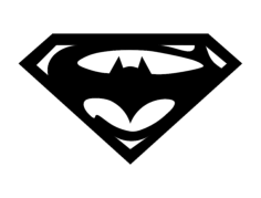 super bat Free Dxf File for CNC