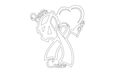 peace love cure Free Dxf File for CNC
