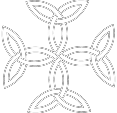 celtic triquetra cross Free Dxf File for CNC