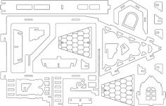 fantasy villas 2 Free Dxf File for CNC