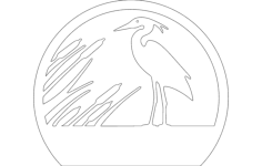 heron Free Dxf File for CNC