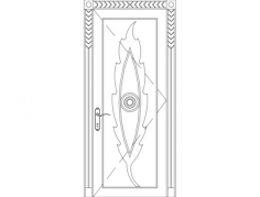 carved wood door Free Dxf File for CNC