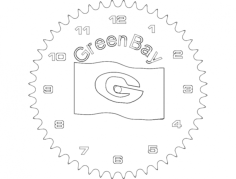 green bay Free Dxf File for CNC