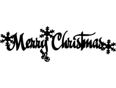 christmas hanger 2 Free Dxf File for CNC