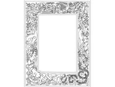 celtic clip art frame Free Dxf File for CNC