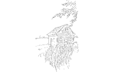 cabin on the plains Free Dxf File for CNC