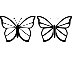 butterfly 26 Free Dxf File for CNC