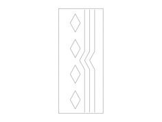 mdf door design 23 Free Dxf File for CNC
