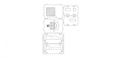 odroidxu4case3mm Free Dxf File for CNC