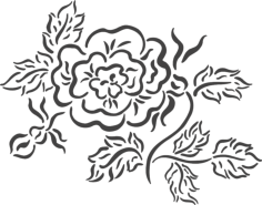 beautiful floral arrangement Free Dxf File for CNC