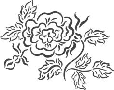 beautiful floral arrangement Free Dxf File for CNC