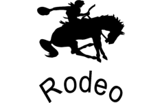 rodeo silhouette vector Free Dxf File for CNC