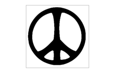 peace Free Dxf File for CNC