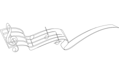 music note Free Dxf File for CNC
