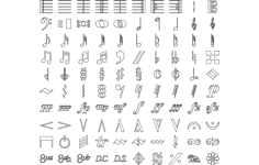 music symbols Free Dxf File for CNC