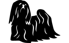 lhasa apso Free Dxf File for CNC