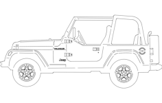 jeep side Free Dxf File for CNC