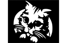 kitty Free Dxf File for CNC