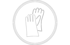 work gloves, safety gloves Free Dxf File for CNC