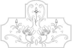 floral design Free Dxf File for CNC